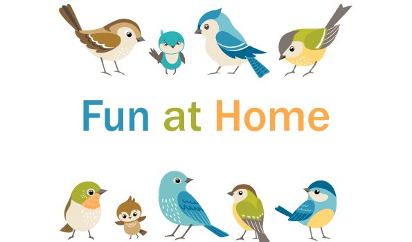 おうちで楽しく過ごそう!Fun at home 実施中です!